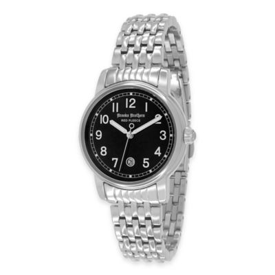 Brooks Brothers Red Fleece Ladies' Small Watch in Stainless Steel with Black Dial