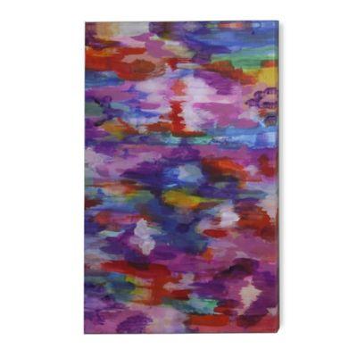 StyleCraft Purple Barrage Contemporary Design Canvas Wall Art