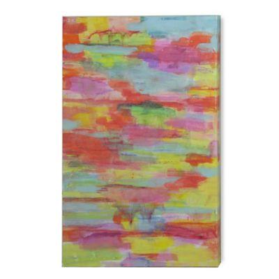 StyleCraft Molton Flourite Contemporary Design Canvas Wall Art