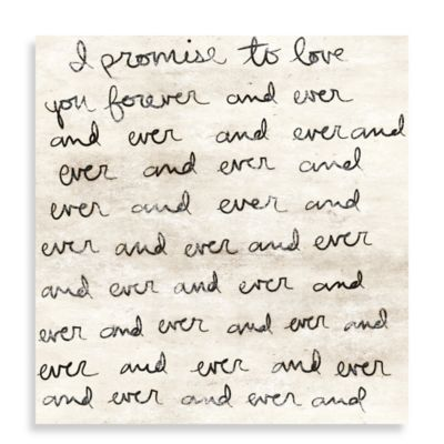 Dearest Love Letter 20-Inch x 20-Inch Canvas Wall Art