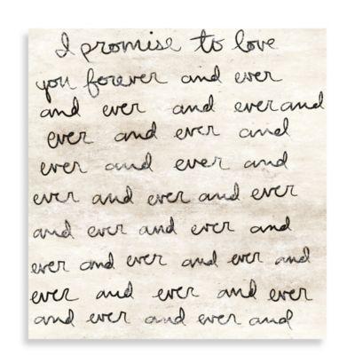 Dearest Love Letter 36-Inch x 36-Inch Canvas Wall Art