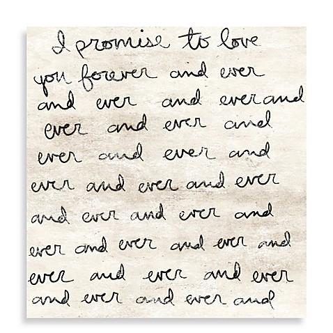 Dearest Love Letter 36 Inch X 36 Inch Canvas Wall Art