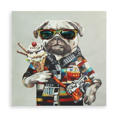 Tourist Dog Canvas Wall Art