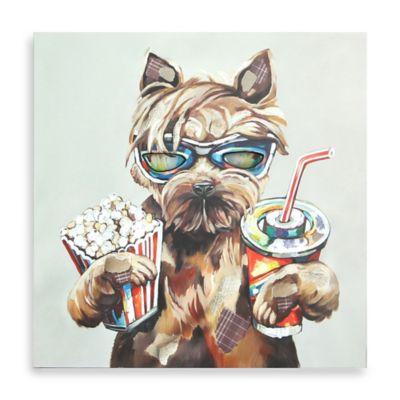 Movie Dog Canvas Wall Art