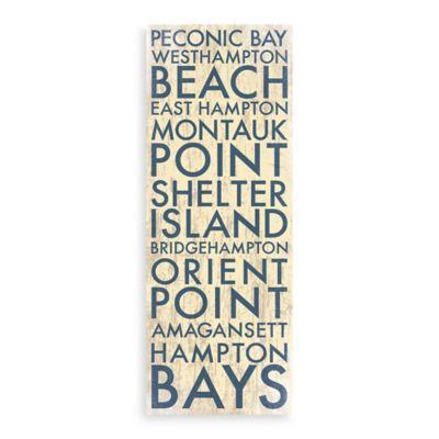 Long Island II Landmark Typography Canvas Wall Art Collection