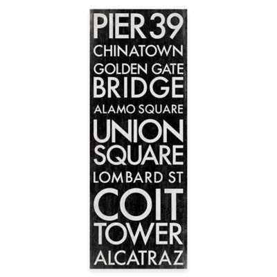 San Francisco 2, California Landmark Typography Canvas Wall Art