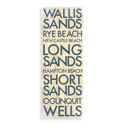 Southwest Maine Landmark Typography Canvas Wall Art