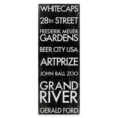 Grand Rapids, Michigan Landmark Typography Canvas Wall Art