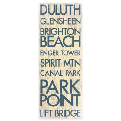Duluth Minnesota Typography Canvas Wall Art