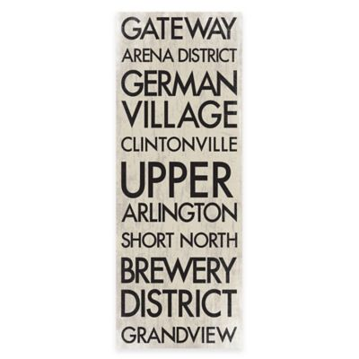 Columbus, Ohio Landmark Typography Canvas Wall Art