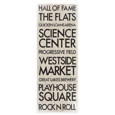 Cleveland, Ohio Landmark Typography Canvas Wall Art