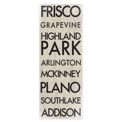 Dallas, Texas Landmark Typography Canvas Wall Art