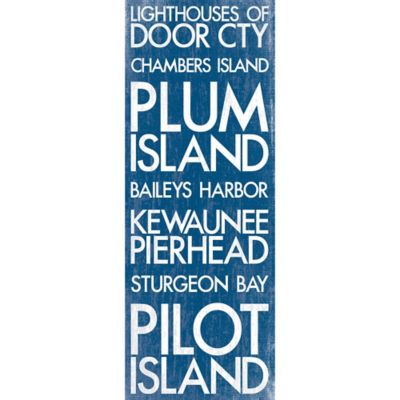 Door City Wisconsin Landmark Typography Canvas Wall Art
