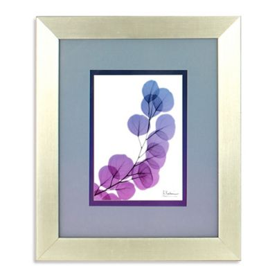 Ombré X-Ray Leaf Framed Wall Art in Purple 2