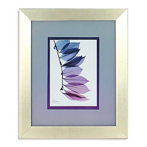 Ombr X Ray Leaf Framed Wall Art In Purple 1 Bed Bath