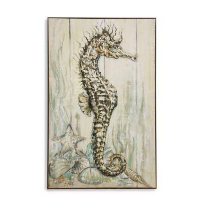 StyleCraft Dancing Seahorse II Wall Art