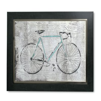 StyleCraft Bicycle On News Framed Print Wall Art