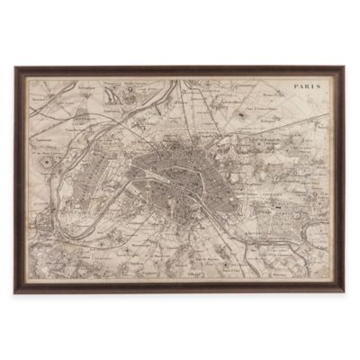 Bassett Mirror Company Map of Paris Wall Art
