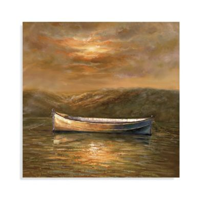 Bassett Mirror Company Sunset Canoe Canvas Wall Art