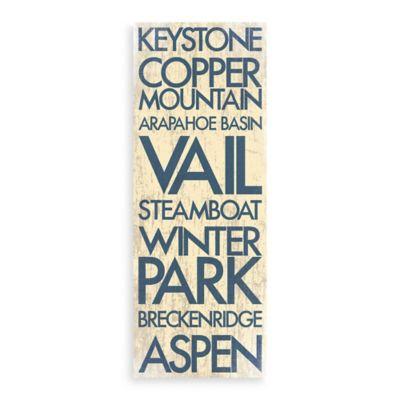 Colorado Landmark Typography Canvas Wall Art