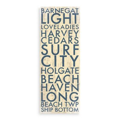 Jersey LBI Landmark Typography Canvas Wall Art