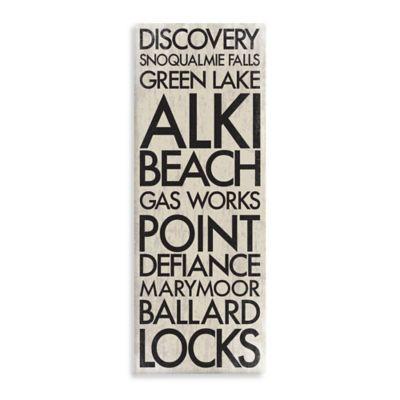 Washington Landmark Typography Canvas Wall Art