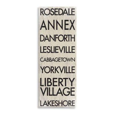 Toronto Landmark Typography Canvas Wall Art