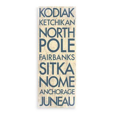 Alaska Landmark Typography Canvas Wall Art