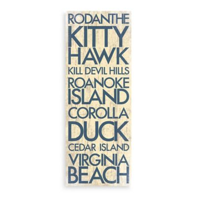 Outer Banks Landmark Typography Canvas Wall Art