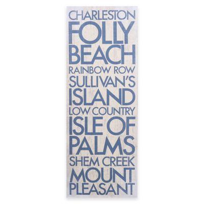 Charleston, South Carolina Landmark Typography Canvas Wall Art