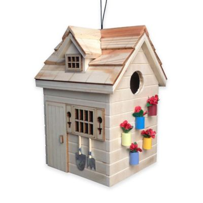 Home Bazaar Potting Shed Bird House in Natural