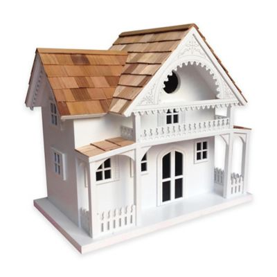 Home Bazaar Shelter Island Summer Cottage Birdhouse in White