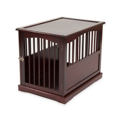 Primetime Petz Large End Table Pet Crate in Walnut Finish