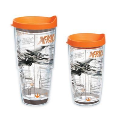 """Tervis® Star Wars™ """"The Force Awakens"""" X Wing Schematic 16 oz. Collage Tumbler with Lid"""