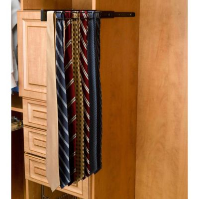 Rev-A-Shelf® 23-Hook Side-Mount Tie Rack in Chrome