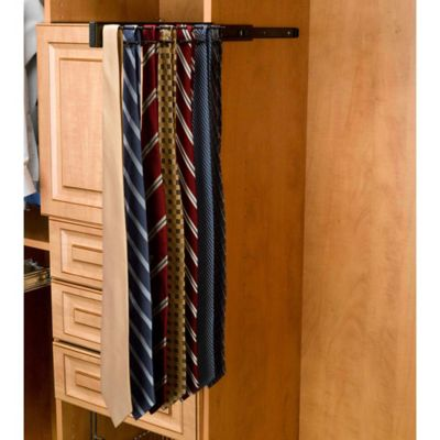 Rev-A-Shelf® 25-Hook Side-Mount Tie Rack in Chrome