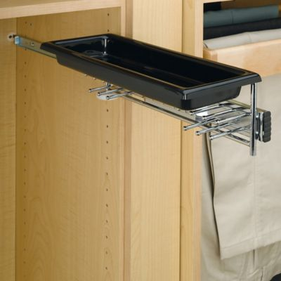 Rev-A-Shelf® Tie and Belt Rack with Tray in Chrome