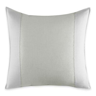 Vera Wang Home Painted Stripe European Pillow Sham in White