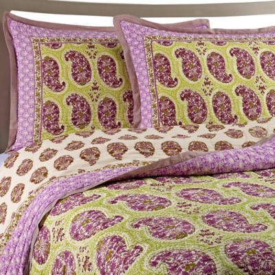 Goa Cotton Voile Twin Quilt Set in Lilac