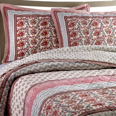 Kadiri Cotton Voile Twin Quilt Set in Rose