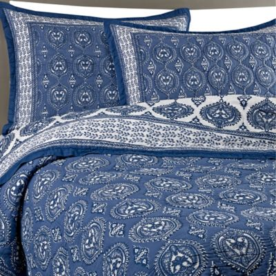 Kolar Cotton Voile Twin Quilt Set in Indigo