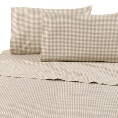 Vellux Houndstooth Flannel Twin Sheet Set