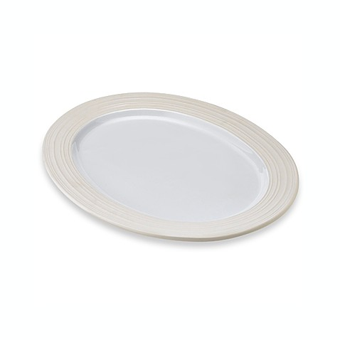 Mikasa® Swirl 20-Inch Oval Platter in White