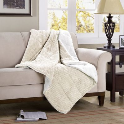 Premier Comfort Jackson Down-Alternative Throw in Grey