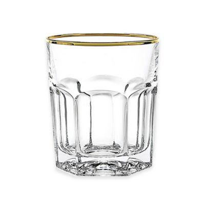 Lorren Home Trends Provenza Double Old Fashioned Glasses in Gold (Set of 6)