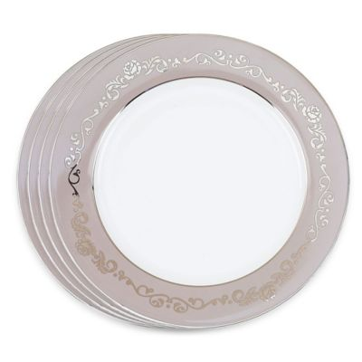 VANDERPUMP Beverly Hills Belgravia Charger Plates in Taupe (Set of 4)