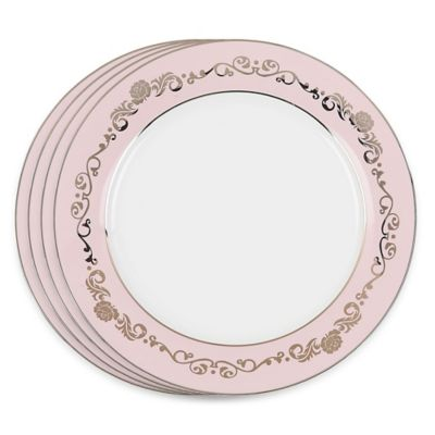 VANDERPUMP Beverly Hills Belgravia Charger Plates in Pink (Set of 4)