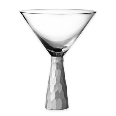 Fitz and Floyd® Daphne Martini Glasses in Silver (Set of 4)