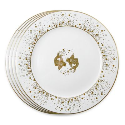 Tinsley Mortimer Koi Charger Plates in Gold (Set of 4)