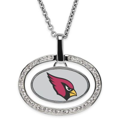 NFL Arizona Cardinals Sterling Silver 18-Inch Chain Oval Pendant Necklace